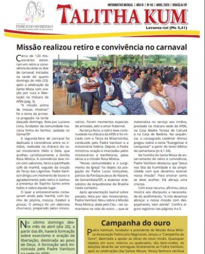 Informativo Talitha Kum - Edição 45