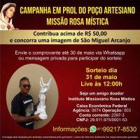 Participe! Em Prol do Poço Artesiano Missão Rosa Mística.