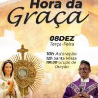 """08/12 - Encontro de Oração """"Hora da Graça"""" - Participe!"""