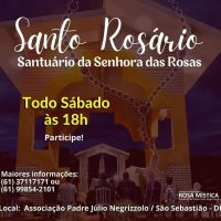 Todo Sábado as 18h - Santo Rosário